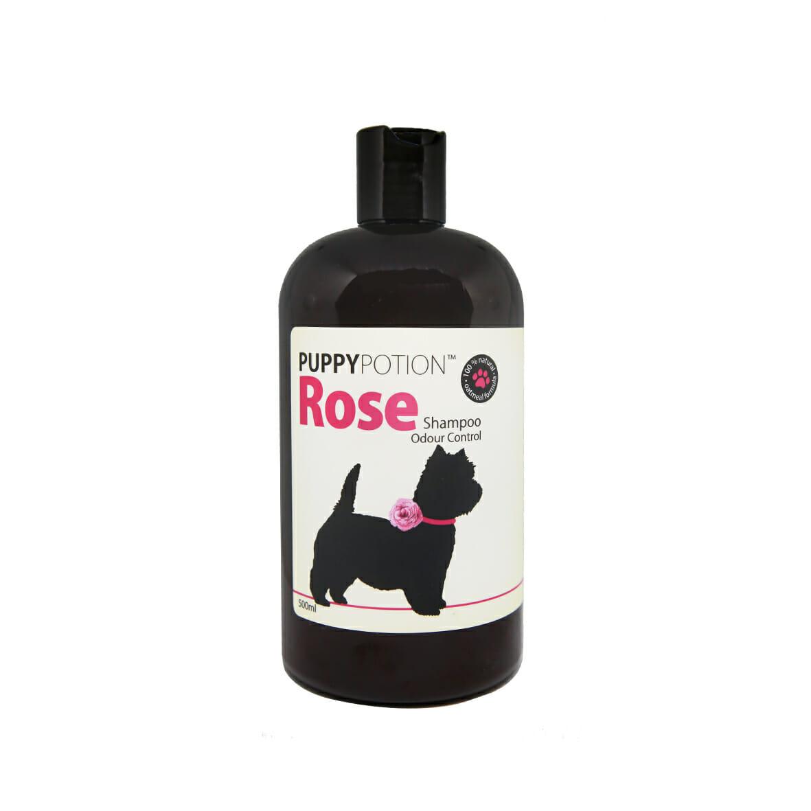 rose shampoo front bottle |